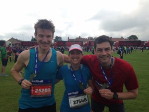 Charlie enjoying 1:45 1/2 marathon PB in Edinburgh