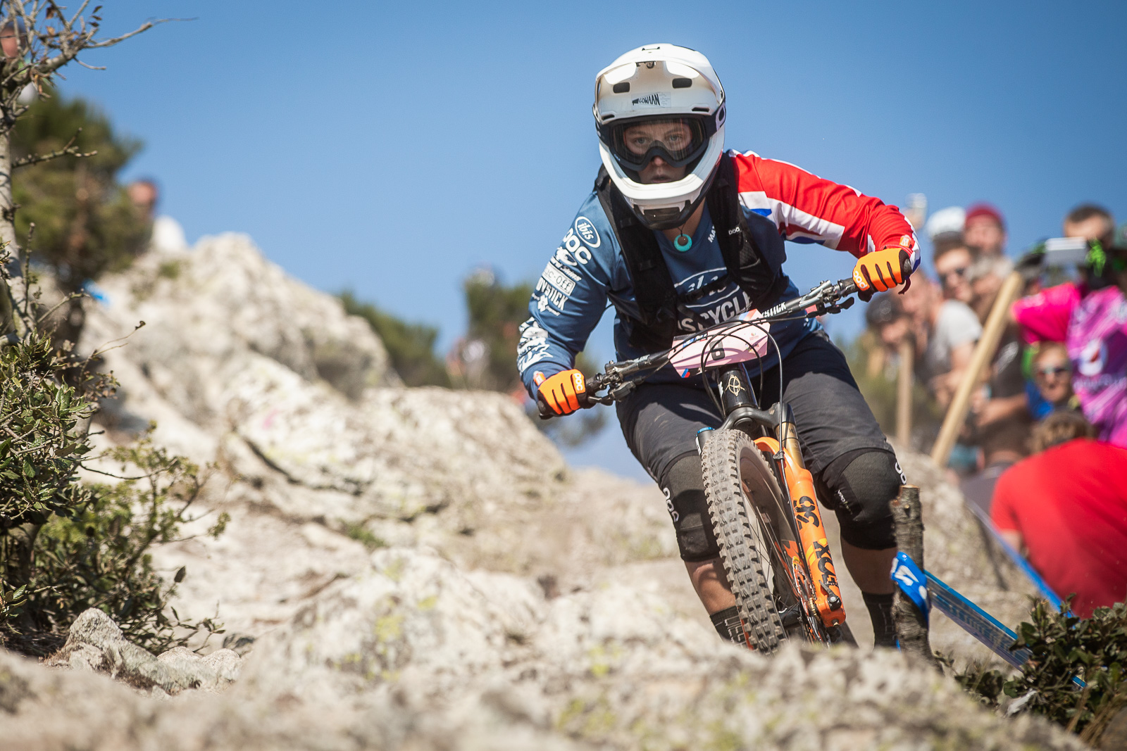 Bex in action 2018 Enduro World Series. Photo credit: Dave Trumpore